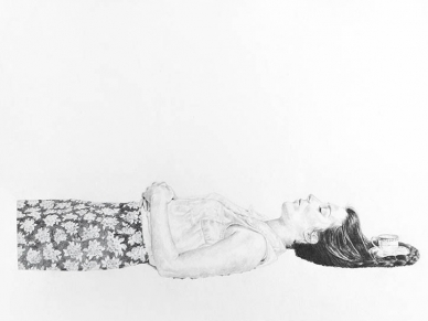 """Fine China"" by BFA candidate Katie Evans, graphite on paper"